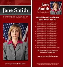 campaign brochure political campaign brochure examples lessons tes