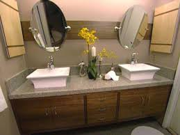 Silver Bathroom Vanities by Stunning Decorating Ideas Using Rectangular White Wooden Vanity