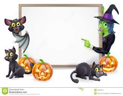 witch and vampire bat halloween sign stock images image 33762504