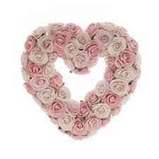 heart wreath sweet potato rosebud heart wreath gift set pink