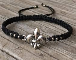 fleur de lis gifts gifts 15 fleur de lis bracelet brown cord bracelet