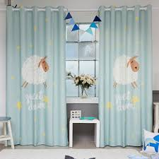 Blue And Yellow Curtains Prints Blue Print Velvet Dolphin Wizard Kids Curtains