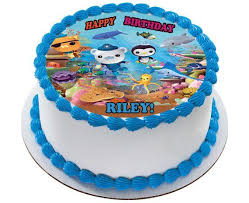 octonauts cake toppers octonauts 3 edible birthday cake or cupcake topper edible prints