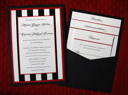 wedding invitations black and white black white thick stripes border clutch pocket wedding