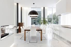 Black And White Dining Room Chairs by Download Modern White Dining Rooms Gen4congress Pertaining To
