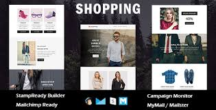 shopping ecommerce responsive email template with stampready