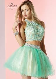 alyce 3647 absinthe beaded lace two piece party dress