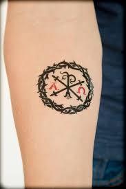 chi rho alpha and omega christian temporary tattoo faith
