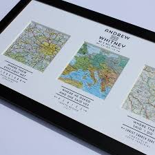 wedding gift map personalised map wedding gift and weddings