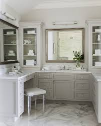 Beachy Bathroom Mirrors by Perfume Vanity Bathroom Beach Style With Glass Front Cabinets