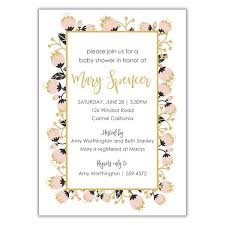pink and gold baby shower invitations pink and gold baby shower invitation brown paper studios
