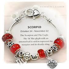 bangle charm bracelet pandora images Scorpio zodiac sign charm bracelet pandora inspired beads jpg&a