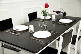 dining room table placemats amazon com sicohome placemats pvc dining room placemats for table