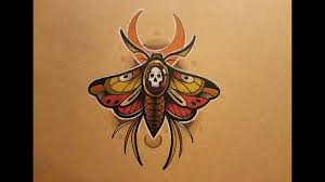 how to draw a neo traditional moth style