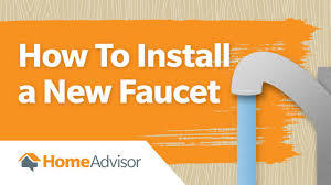 how to install a new faucet kitchen faucet replacement youtube