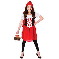 red riding hood spirit halloween girls red riding hood fancy dress up party costume halloween child