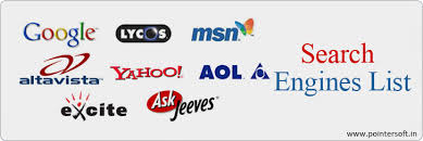 list of engines search engines list major search engine list top search