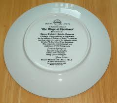 kinkade collector plate yuletide memories titled magic of