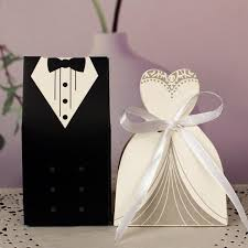 wedding gift bag new 30pcs lot bridal gift bag cases groom tuxedo dress gown ribbon