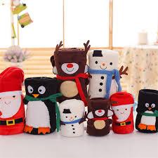 jeter un canapé santa claus elk bonhomme de neige pingouin de noël couverture