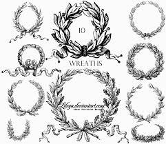 laurel wreath photoshop brushes free ps brushes 123freebrushes