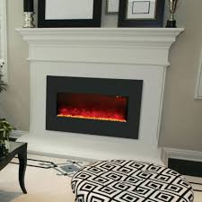 electric fireplace built in wall outdoor into built in electric