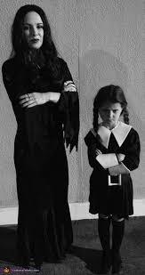 Addams Family Halloween Costume Ideas Morticia Wednesday Addams Costume Wednesday Addams Halloween