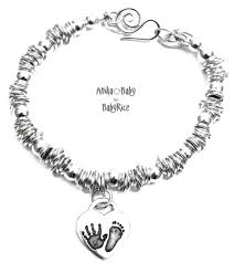 child charm bracelet images Silver heart charm baby child hand footprint sweetie bracelet oxi jpg