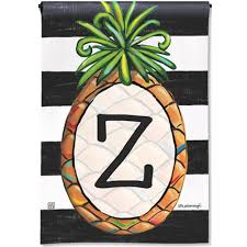 Monogram House Flags Magnet Works Southern Welcome Monogram Z Garden Flag Flagsrus Org