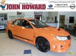 subaru orange 2013 tangerine orange pearl subaru impreza wrx sti 4 door orange