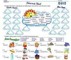 Pronoun Verb Agreement Worksheets Countable And Uncountable Nouns Sorting Set Language Arts
