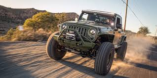 jeep truck conversion green iguana wrangler truck