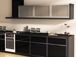 Frosted Glass Kitchen Cabinet Doors Kitchen Simple Aluminium With Frosted Glass And Brown Shade And