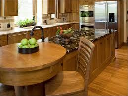 kitchen round kitchen island with seating butcher block island