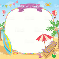 Clip On Umbrellas For Beach Chairs Hello Summer Decorated With Surfboard Umbrella And Deck Chair On