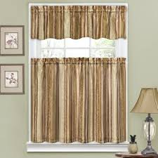 Chocolate Brown Valances For Windows Striped Valances U0026 Kitchen Curtains You U0027ll Love Wayfair