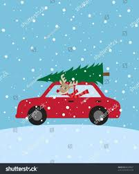 christmas tree on car vector cheminee website