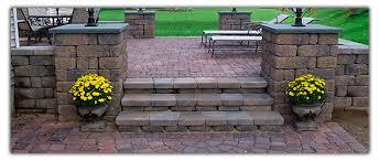 paver patios patio designs dayton landscaping