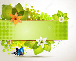 design with leaf flowers and butterflies royalty free