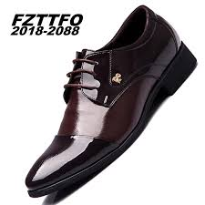 wedding shoes brands fashion genuine leather men oxford shoes lace up casual business