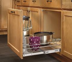 amazon com rev a shelf 5wb1 1220 cr 12 in w x 20 in d base amazon com rev a shelf 5wb1 1220 cr 12 in w x 20 in d base cabinet pull out chrome wire basket