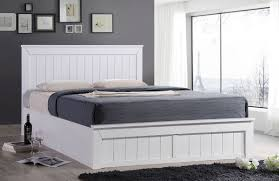 Ottoman Bed Black Dreams Chandler 4ft 6 Wooden Ottoman Bed White