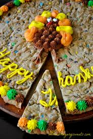 desserts for thanksgiving day thanksgiving cookie cake and a turkey day roundup shugary sweets