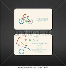 Bicycle Business Cards Vector Modern Simple Light Business Card Stock Vector 429727285