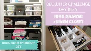 clutterbug declutter challenge day 8 u0026 9 junk drawer and linen