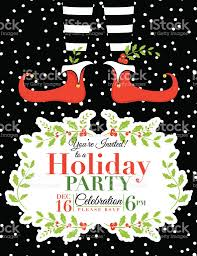 christmas party invitation template christmas party invitation template stock vector more