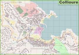 Map Of South Of France by Large Detailed Map Of Collioure