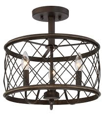 Quoizel Ceiling Light Quoizel Rdy1714pn Dury 3 Light 15 Inch Palladian Bronze Semi Flush