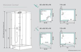 44 Shower Door by Kinedo Horizon Corner Watertight Sliding Door Shower Cubicle Pod