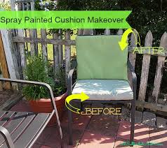How To Spray Paint Patio Furniture Diy Saturday Spray Paint Those Old Faded Outdoor Cushions A